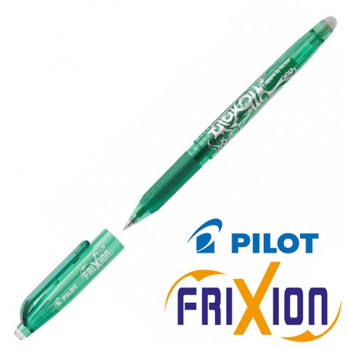 Fine Erasable Gel Rollerball - Pilot Frixion Ball 'Fine' 0.5mm - (Green / Vert)
