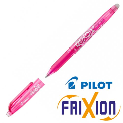 Fine Erasable Gel Rollerball - Pilot Frixion Ball 'Fine' 0.5mm - (Pink / Rose)