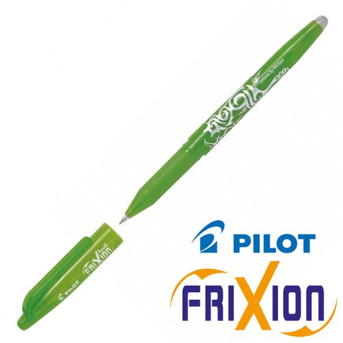 Stylo Frixion Ball (avec capuchon) - pointe moyenne 0.7mm (lime green)