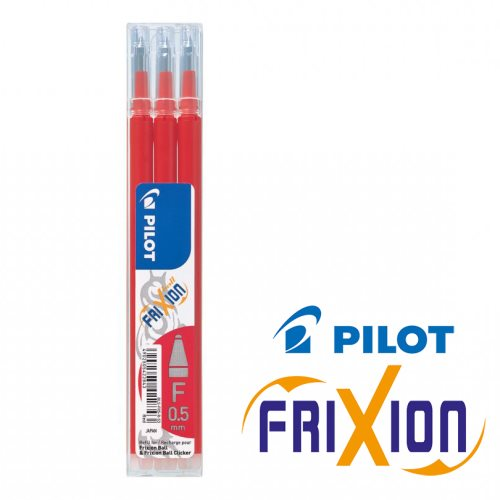 Refills : Frixion Ball 'Fine' 0.5mm - pkt x3 - (Red / Rouge)