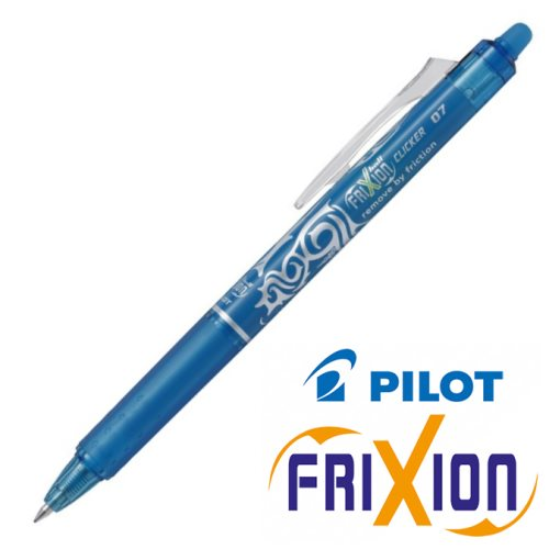 Stylo frixion clicker 0.7 light blue