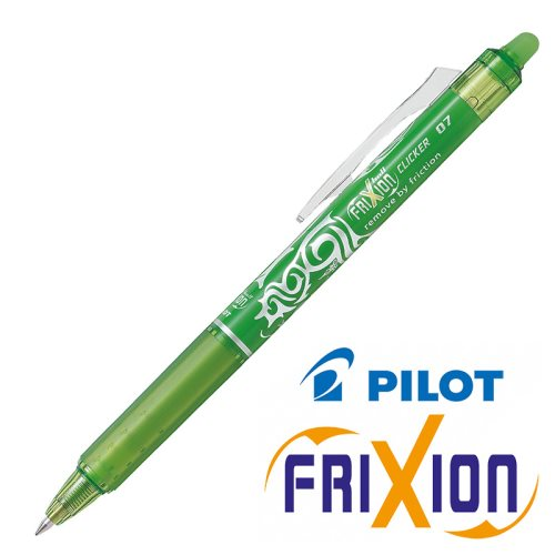 Stylo Frixion Clicker (rétractable) 'Kids' - pointe moyenne 0.7mm (lime green)