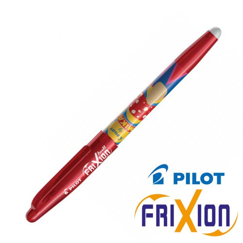 Stylo Pilot Frixion Ball 0.7mm, Edition 'Mika' - rouge (mushroom)