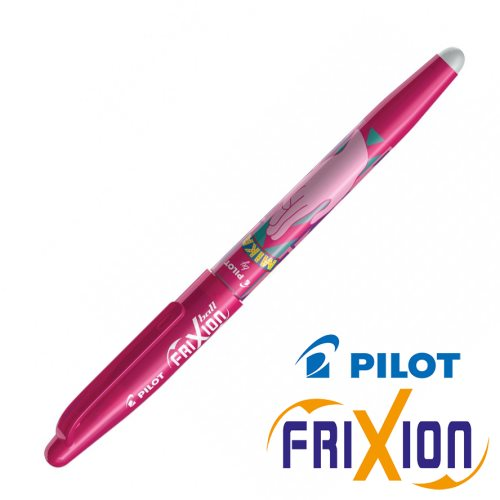 Stylo Pilot Frixion Ball 0.7mm, Edition 'Mika' - rose (hand)