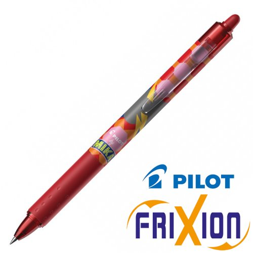 Stylo Pilot Frixion Clicker 0.7mm, Edition 'Mika' - rouge (thunderbot)
