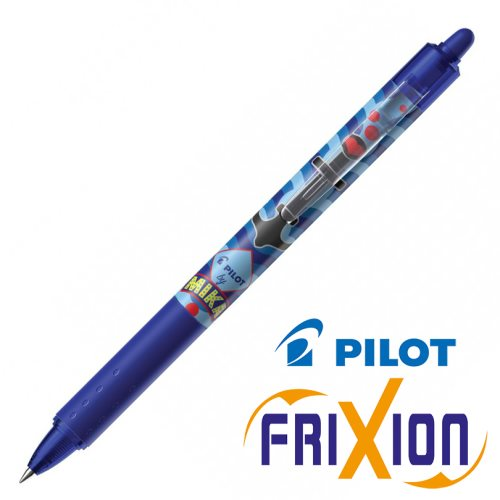 Stylo Pilot Frixion Clicker 0.7mm, Edition 'Mika' - bleu (anchor)