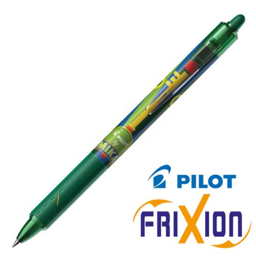 Stylo Pilot Frixion Clicker 0.7mm, Edition 'Mika' - vert (gold key)