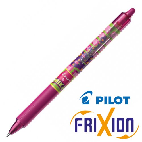 Stylo Pilot Frixion Clicker 0.7mm, Edition 'Mika' - rose (snake)