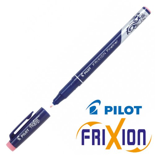Stylo feutre fine Pilot 'Frixion - Fineliner' (0.4mm) - baby pink