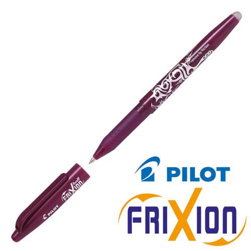 Erasable Gel Rollerball - Pilot Frixion Ball Medium 0.7mm - (Wine Red / Vin Rouge)