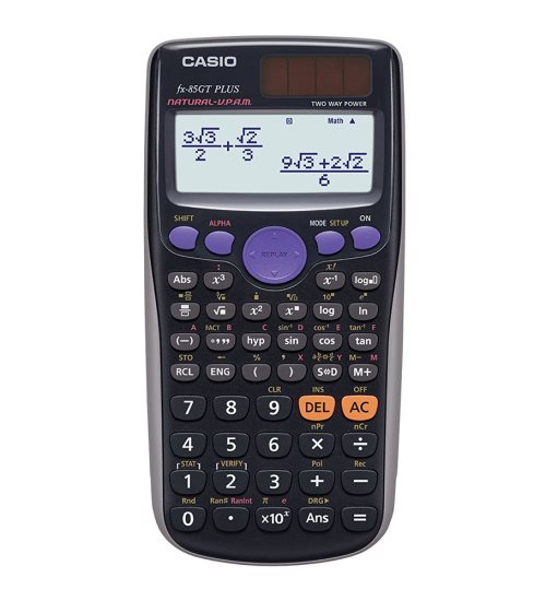 Calculatrice scientfique Casio FX-85GT Plus solaire - (noir)