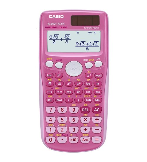 Calculatrice scientfique Casio FX-85GT Plus solaire - (rose)