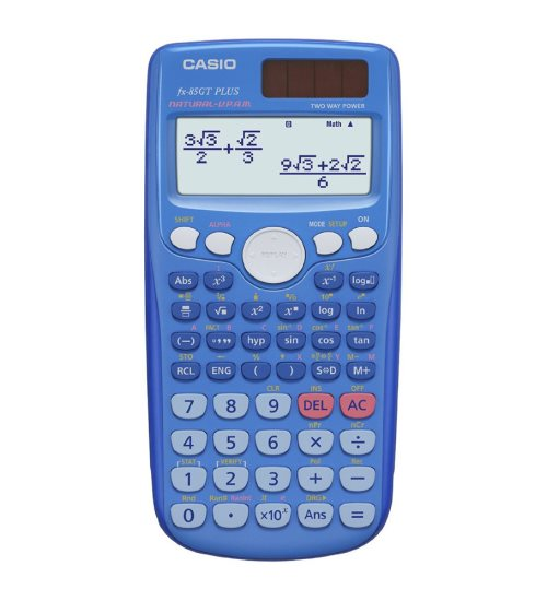 Calculatrice scientfique Casio FX-85GT Plus solaire - (bleu)