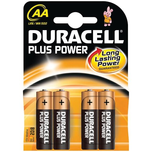 x4 Piles AA (LR6) Duracell 'Plus Power'