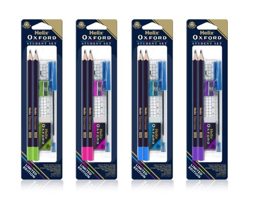 Oxford colours 'student set'%3b crayons, regle, gomme, stylo