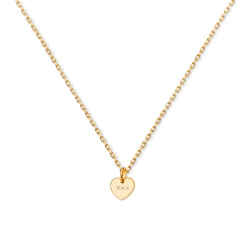 Yellow gold pated pendant : Kiss Kiss Kiss