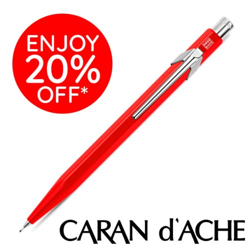 Caran D'Ache type '844' 0.7mm Criterium / Mechanical Pencil – CLASSIC Red / Rouge