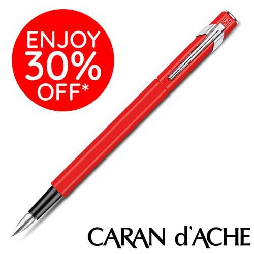 Caran D'Ache type '849' Fountain Pen – CLASSIC Red / Rouge – Medium Point