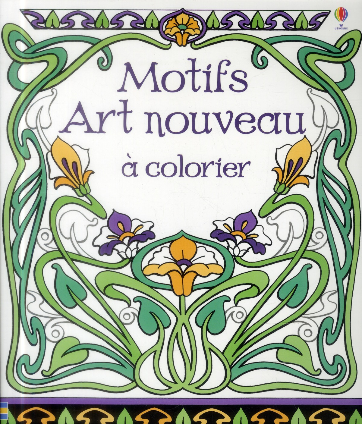 motifs art nouveau a colorier bone emily librairie la page. Black Bedroom Furniture Sets. Home Design Ideas
