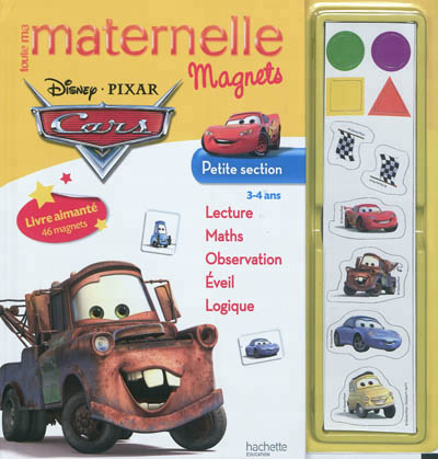 Toute ma maternelle magnets Cars, petite section, 3-4 ans