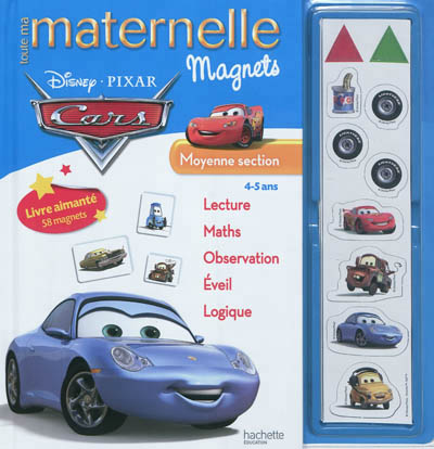 Toute ma maternelle magnets Cars, moyenne section, 4-5 ans