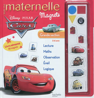 Toute ma maternelle magnets Cars, grande section, 5-6 ans