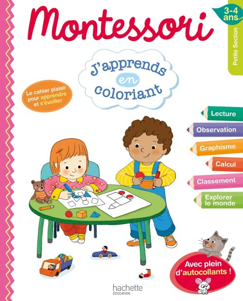 Montessori J'apprends en coloriant PS