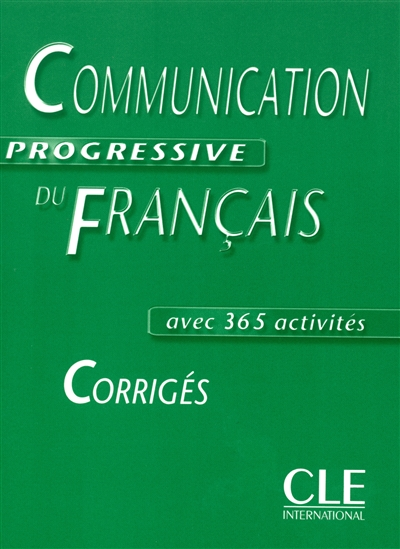 Communication progressive intermediaire corriges