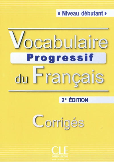 Vocabulaire progressif deb corrige