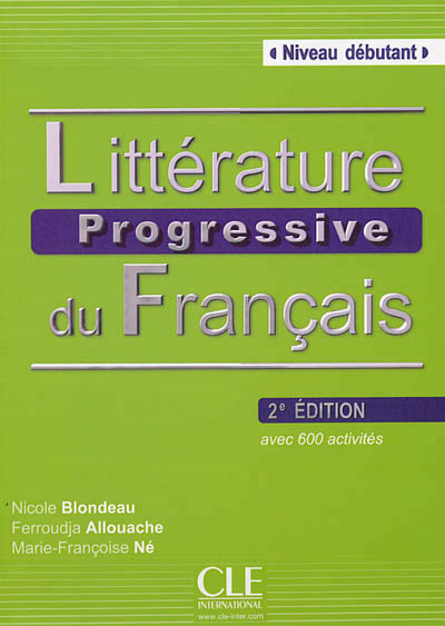 Litterature progressive du francais debutant + cd audio
