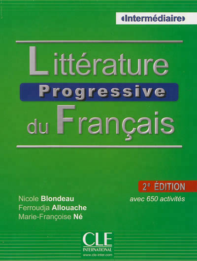 Litterature progressive du francais intermediaire 2ed + cd audio