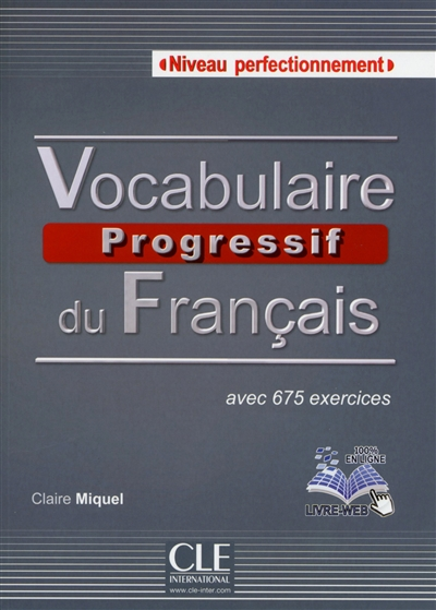 Vocabulaire progressif du francais perfectionnement + cd audio