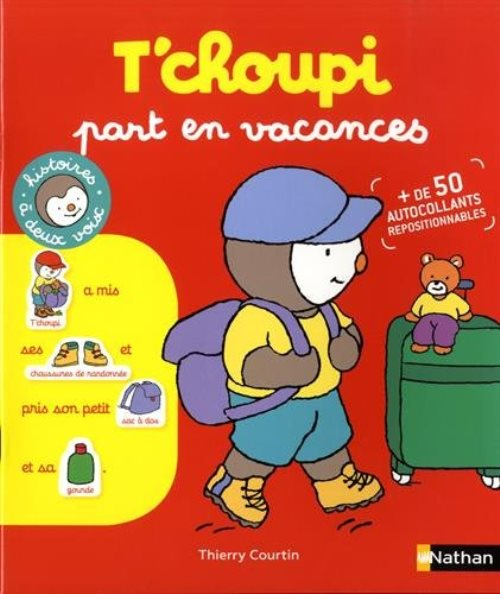Autocollants : T'choupi part en vacances