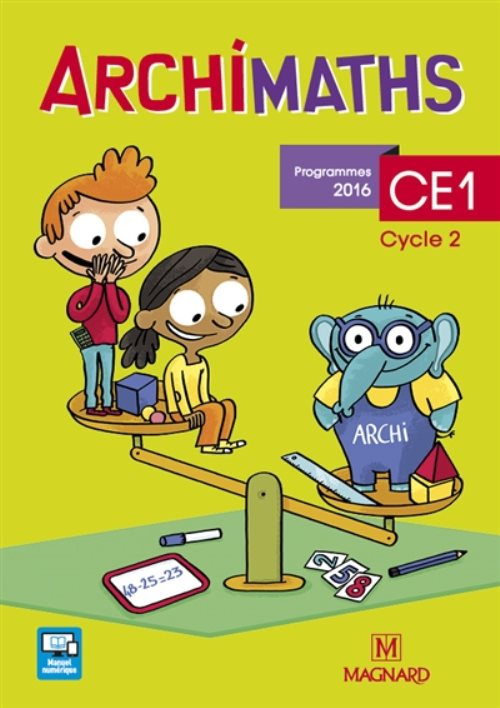 Archimaths CE1, cycle 2 : programmes 2016