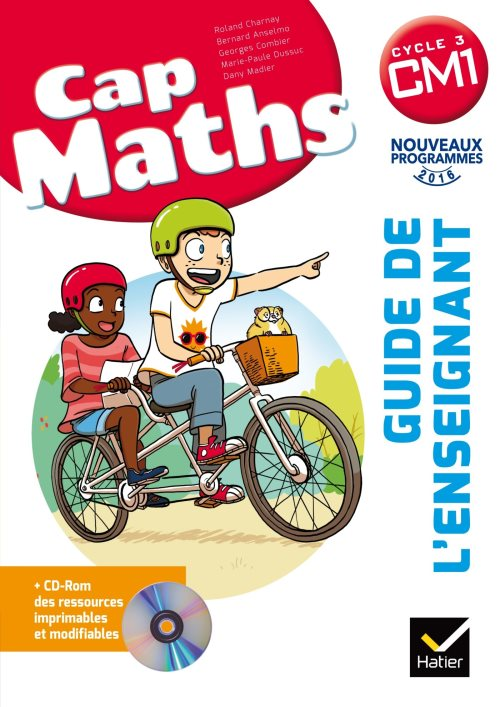 CAP Maths CM1 Éd. 2017 - Guide pédagogique + CD-Rom
