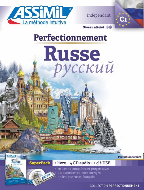 Superpack Usb Perfectionnement Russe (livre+4Cd audio+1clé USB)
