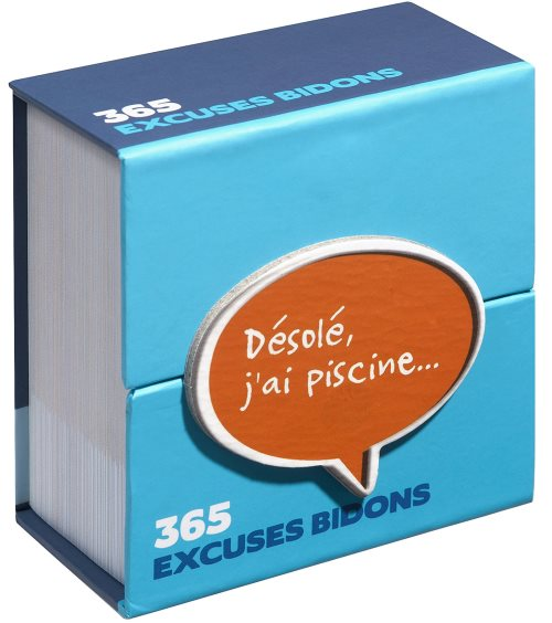 Mini calendrier : 365 excuses bidon